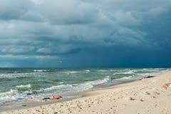 Θυελλώδης θάλασσα τοπίων Στοκ φωτογραφία με δικαίωμα ελεύθερης χρήσης
