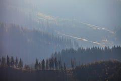 θυελλώδης καιρός βουνών Στοκ Εικόνες
