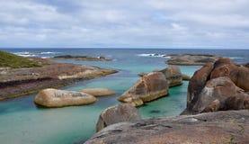 Θυελλώδης ουρανός πέρα από τον όρμο ελεφάντων, Δανία, δυτική Αυστραλία Στοκ Φωτογραφίες