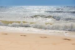 Θυελλώδης παραλία Στοκ Εικόνα