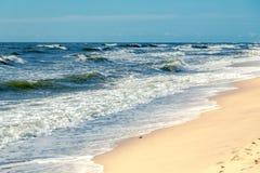Θυελλώδης παραλία Στοκ Φωτογραφία
