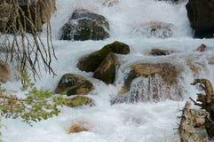 Θυελλώδης ποταμός βουνών Στοκ Φωτογραφίες