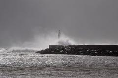 Θυελλώδης ψεκασμός θάλασσας Στοκ Φωτογραφίες