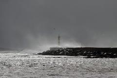 Θυελλώδης ψεκασμός θάλασσας Στοκ εικόνα με δικαίωμα ελεύθερης χρήσης