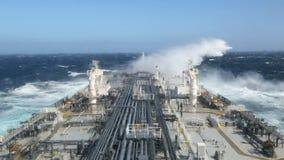 Θυελλώδης ωκεανός - άποψη από το παράθυρο απόθεμα βίντεο