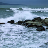 Θυελλώδη κύματα θάλασσας Στοκ φωτογραφίες με δικαίωμα ελεύθερης χρήσης