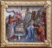 Θυσία που προσφέρεται από το Elijah στοκ φωτογραφία με δικαίωμα ελεύθερης χρήσης