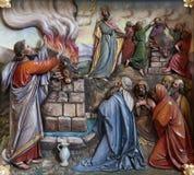 Θυσία που προσφέρεται από το Elijah στοκ φωτογραφίες με δικαίωμα ελεύθερης χρήσης