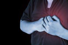 Θωρακικός τραυματισμός στους ανθρώπους θωρακικός πόνος, κοινοί άνθρωποι πόνων ιατρικοί, μ Στοκ φωτογραφία με δικαίωμα ελεύθερης χρήσης