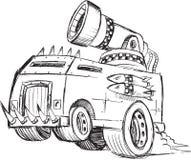 Θωρακισμένο σκίτσο οχημάτων φορτηγών Στοκ Εικόνα