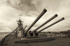 Θωρηκτό USS Μισσούρι στο Pearl Harbor στη Χαβάη Στοκ Εικόνα