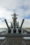 Θωρηκτό USS Μισσούρι στο Pearl Harbor στη Χαβάη Στοκ φωτογραφία με δικαίωμα ελεύθερης χρήσης