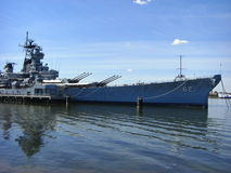Θωρηκτό USS Νιου Τζέρσεϋ BB-62 Στοκ Φωτογραφία