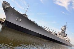 Θωρηκτό USS Ουισκόνσιν, Norfolk, VA, ΗΠΑ Στοκ φωτογραφίες με δικαίωμα ελεύθερης χρήσης