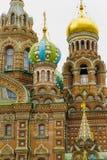 Θόλοι κρεμμυδιών στο ρωσικό καθεδρικό ναό Στοκ φωτογραφίες με δικαίωμα ελεύθερης χρήσης