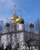 Θόλοι του ναού Sretensky, Μόσχα, Ρωσία στοκ εικόνα με δικαίωμα ελεύθερης χρήσης