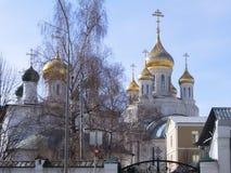 Θόλοι του ναού Sretensky, Μόσχα, Ρωσία στοκ φωτογραφία με δικαίωμα ελεύθερης χρήσης
