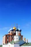 θόλοι το χρυσό Κρεμλίνο Ryazan Στοκ Φωτογραφίες