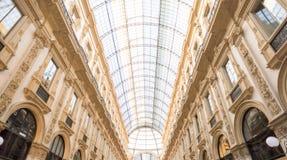 Θόλος γυαλιού Galleria Vittorio Emanuele στο Μιλάνο Στοκ Φωτογραφίες