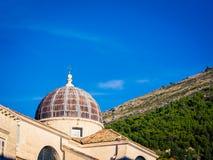 Θόλος εκκλησιών σε Dubrovnik Στοκ φωτογραφία με δικαίωμα ελεύθερης χρήσης
