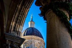 Θόλος εκκλησιών σε Dubrovnik Στοκ Εικόνες