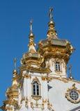 θόλος εκκλησιών χρυσός Στοκ Εικόνες