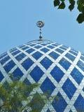 Θόλος μουσουλμανικών τεμενών Shah alam καλλιεργημένος στοκ φωτογραφίες