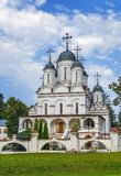 , θόλος, σταυρός, καλοκαίρι, καθεδρικός ναός σε Bolshie Vyazyomy, Ρωσία Στοκ Εικόνες