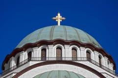Θόλος του ναού St.Sava Στοκ Φωτογραφία
