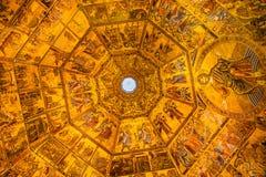 Θόλος Bapistry Άγιος John Φλωρεντία Ita μωσαϊκών αγγέλων του Ιησούς Χριστού στοκ φωτογραφία