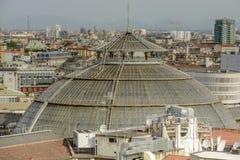 Θόλος Galleria από τη στέγη καθεδρικών ναών, Μιλάνο, Ιταλία Στοκ Εικόνες