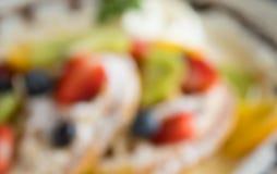 Θόλωμα του Fruity υποβάθρου επιδορπίων βαφλών ακτινίδιων βακκινίων φραουλών ύφους για το σχέδιο 4 στοκ εικόνες