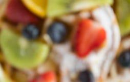 Θόλωμα του Fruity υποβάθρου επιδορπίων βαφλών φραουλών ύφους για το σχέδιο στοκ φωτογραφία με δικαίωμα ελεύθερης χρήσης