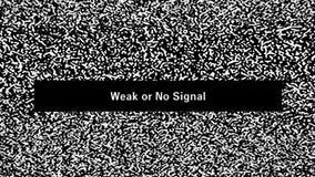 Θόρυβος TV. Αδύνατος ή κανένα σήμα φιλμ μικρού μήκους