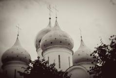 Θόλοι εκκλησιών στην τριάδα Sergius Lavra στοκ φωτογραφίες