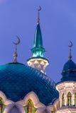 Θόλοι και μιναρή του μουσουλμανικού τεμένους kul-Σαρίφ Στοκ εικόνες με δικαίωμα ελεύθερης χρήσης
