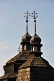 Θόλοι με τους σταυρούς σε church_2 στοκ εικόνες