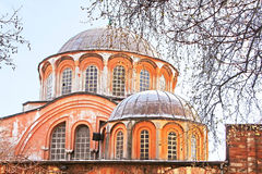 Θόλοι της εκκλησίας του ιερού Savior σε Chora, Ιστανμπούλ, Τουρκία στοκ φωτογραφίες