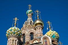 Θόλοι της εκκλησίας του Savior στο αίμα στη Αγία Πετρούπολη στοκ εικόνες με δικαίωμα ελεύθερης χρήσης