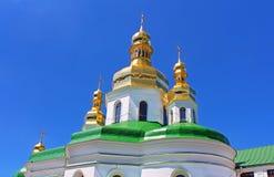 Θόλοι της ιερής διαγώνιας εκκλησίας, Kyiv, Ουκρανία στοκ εικόνα