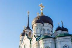 Θόλοι της Ορθόδοξης Εκκλησίας, Annunciation καθεδρικός ναός στο κέντρο Voronezh Στοκ Εικόνες