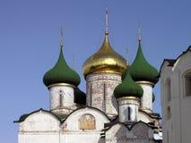 Θόλοι του καθεδρικού ναού μεταμόρφωσης Savior's στο Σούζνταλ στοκ εικόνες