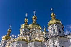 Θόλοι του καθεδρικού ναού στο Κίεβο Pechersk Lavra στοκ εικόνες