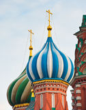 Θόλοι του καθεδρικού ναού του βασιλικού Αγίου, κόκκινο τετράγωνο, Μόσχα, Ρωσία στοκ εικόνα με δικαίωμα ελεύθερης χρήσης