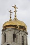 Θόλοι του καθεδρικού ναού Χριστού το Savior στοκ φωτογραφία