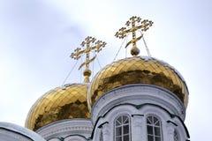 Θόλοι του μοναστηριού Raifa Bogorodsky κοντά Kazan, Ρωσία στοκ φωτογραφία με δικαίωμα ελεύθερης χρήσης