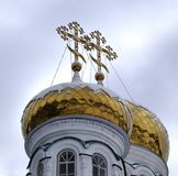 Θόλοι του μοναστηριού Raifa Bogorodsky κοντά Kazan, Ρωσία στοκ εικόνες