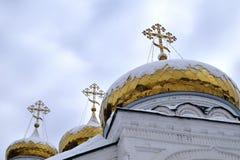 Θόλοι του μοναστηριού Raifa Bogorodsky κοντά Kazan, Ρωσία στοκ φωτογραφίες