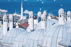 Θόλοι του μουσουλμανικού τεμένους Suleymaniye στοκ φωτογραφία