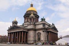 Θόλος εκκλησιών καθεδρικών ναών Αγίου Isaacs στην Άγιος-Πετρούπολη, Ρωσία Στοκ Φωτογραφίες